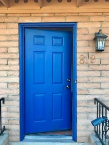 Blue door house in Tucson Arizona