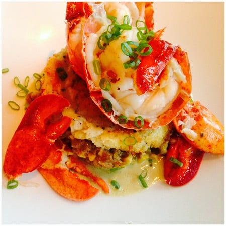 Lobster and hachis parmentier at the Sea Glass restaurant at the Inn By The Sea- Cape Elizabeth, Maine