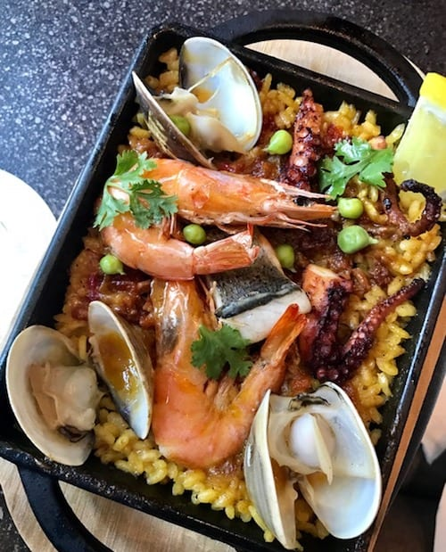 Seafood Paella at East End bar in Hotel Proverbs Taipei