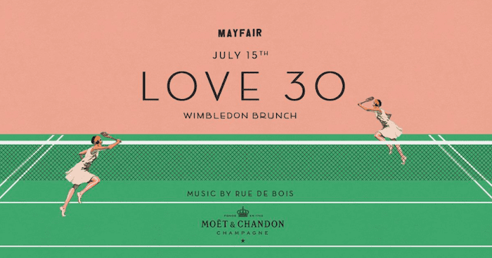 Wimbledon brunch au Mayfair