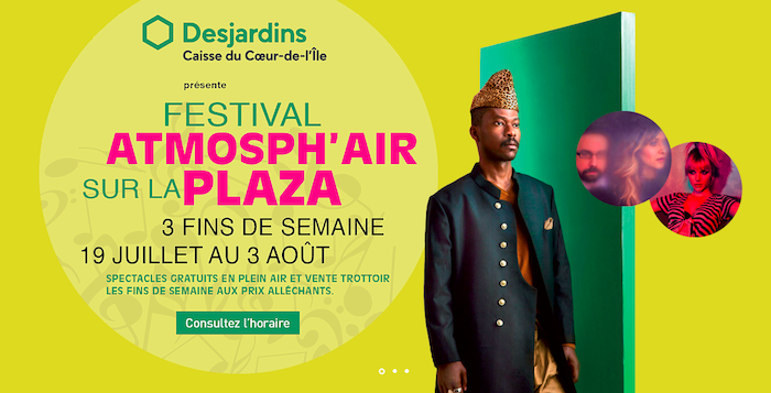 Festival Atmosph'Air sur la Plaza St-Hubert