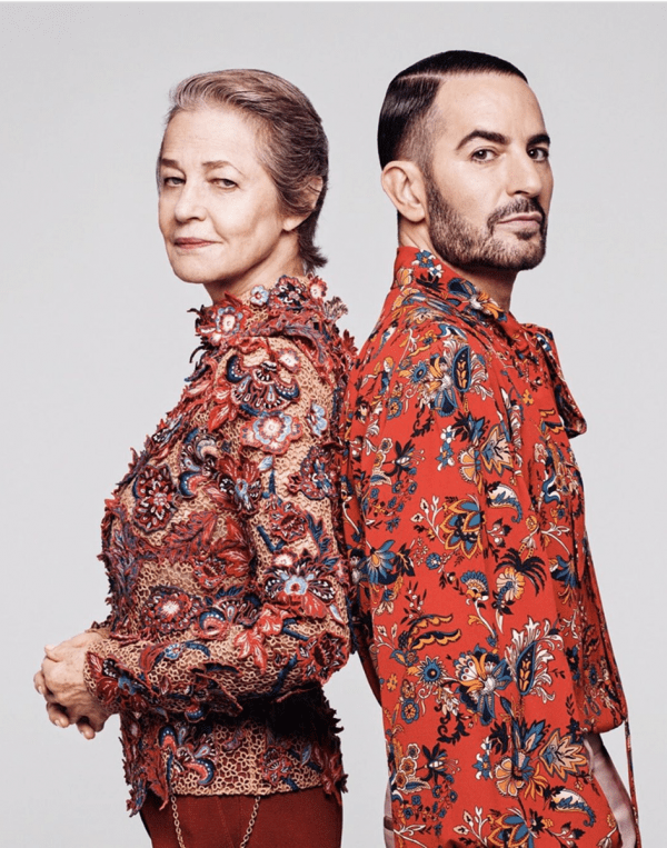 Charlotte Rampling and Marc Jacobs for Givenchy